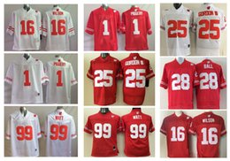 Wholesale Badger Football Jerseys - Wisconsin Badgers Jersey Football Ncaa College Russell Wilson J.J. WATT Melvin Gordon III PIGGERY Montee BALL White Red