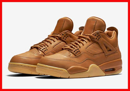 Wholesale Sports Shoes Men Cheap Prices - cheap men basketball shoes air retro 4 premium ginger gum yellow 4s mens sports sneakers free drop shipping discount price with box