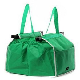 Wholesale Cheapest Handbags - Wholesale- Folding Eco Shopping Reusable Travel Bag Green Pouch Multifunction Tote Handbag Cheapest