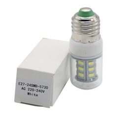 Lâmpada LED 5730 SMD 220 V 240 V E27 E14 24 LEDs Lâmpada 5 W Fluorescente Decoração de Casa Luz CONDUZIU a Lâmpada Levou luz de Milho 24LED de Fornecedores de lúmens velas