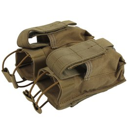 Wholesale Tactical Vest Bags - Tactical Molle Vest Bag Mag Pouch Tactical MOLLE Triple Open-Top Magazine Pouch FAST Airsoft Paintball Equipment