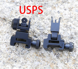 Wholesale Ar Rear Sight - New AR Rapid Transition Tactical Front and Rear Flip-Up Down Iron Sights Set Free Shipping