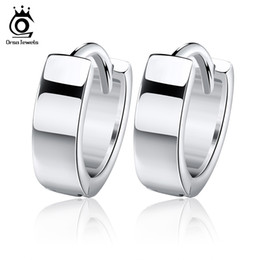 Wholesale small rhinestone earrings - Orsa Jewelry Small Hoop Earring,925 Sterling Silver with 3 Layer Platinum Plated,Hot Sale Earring OE03
