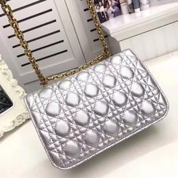 Carteras de cuero para mujer online-FASHION BAG bolso de la cadena de la mochila del embrague de la aleta del embrague del bolso del hombro del cuerpo verdadero de las mujeres