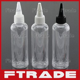 Wholesale Plastic Divided - Wholesale- 100 ml transparent bottle beak round cover, empty plastic cosmetic liquid container, divided bottle 10PCS LOT