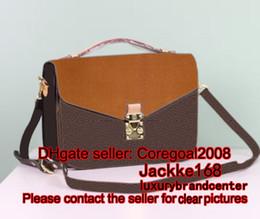 Wholesale Authentic Leather Bags - authentic quality POCHETTE METIS M40780 cross body womens satchel leather handbag shoulder flap bag purse France luxury brand designer