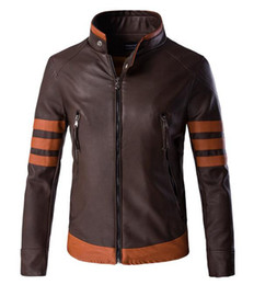 Wholesale Grey Jacket Leather Sleeve Men - The spring and autumn period and the han edition of the new boutique personality leisure big yards locomotive leather jacket M - 5 xl