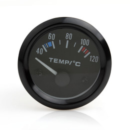 Wholesale Water Temp Gauges - Brand New Auto Instruments New 2inch 12V Universal Car Pointer Water Temperature Temp Gauge 40 - 120 White LED CEC_545