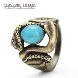 Wholesale Neoglory Vintage - Neoglory Fashion Original Finger Rings Fashion Jewelry For Women 2017 New Arrival Hot Selling Vintage Snake Animal CLE QC2