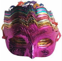 Wholesale Decorating Masks - 12 pcs lot, Masks, Masquerade Costume Mask, Half face Plastic Decorating Halloween masquerade ball mask