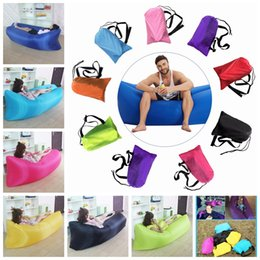 Wholesale String Beach - Wholesale-by dhl or ems 20pcs Outdoor Fast Inflatable Air Sofa Beach Flatfish Sleeping Bed Air Bed for Camping Hiking Sleeping Bags hh123