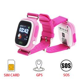 Montre-bracelet de localisation pour enfant en Ligne-GPS Q90 Smartwatch Écran Tactile WIFI Positionnant Les Enfants Intelligents Montre-bracelet Locator pour Kid Safe Anti-Perdu # b0