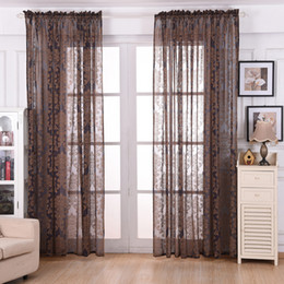 Wholesale French Pattern Fabric - Wholesale-Bedroom living Room Semi-shade Curtains 1*2m European Cotton and linen Pattern Embroidered screens Curtains