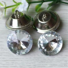 Wholesale Shinning Glasses - Clear 20MM 25MM 30MM Satellite Crystal Glass Buttons Sofa Buttonss Sewing Button Upholstery Buttons Shinning XL-A74