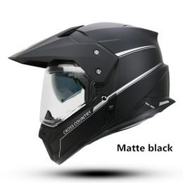 Wholesale Yohe Visor - 2016 YOHE motorcycle helmet dual lens cross country helmet off road racing motocross helmet with inner sun visor Capacete DOT