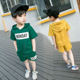 Wholesale Children Clothing Boy Years - 2017 children's wear Boy short sleeve t-shirt suit 1-3 years old child casual summer shorts baby children's summer clothes fashion