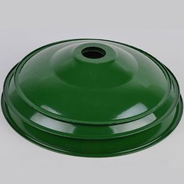 Wholesale Lamp Shades For Chandeliers - lampshade gymnasium Round green and yellow lamp shade enamel material multipurpose chandelier for different scenes factory workshop warehous