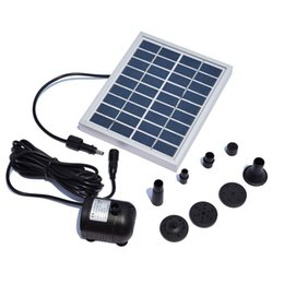 Wholesale 6v Solar Water Pump - Wholesale- 5W Solar Water Pump Landscape Pool Garden Solar Fountains Solar Powered Decorative Outdoor Water Fountains For Small Pond