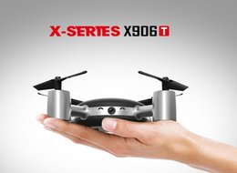 Wholesale Rc Remote Screen - Original MJX X906T X-XERIEX 5.8G FPV With HD Camera Built In 2.31 Inches LCD Screen 3D Flips Wind Resistance RC Quadcopter Mode 2 RTF