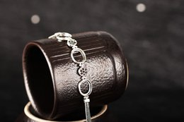 Wholesale Opal Bracelets - Real Sterling Silver 925 Thai Silver Women Semi Mount Bracelet for Oval Cabochon 10x12mm Amber Agate Opal Lapis Lazuli Setting