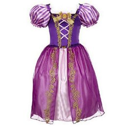 Wholesale Costume Children Cinderella - Age 2-10 Years Princess Cinderella Girls Dress Snow White Kids Clothing Dress Rapunzel Aurora Children Cosplay Costume Clothes