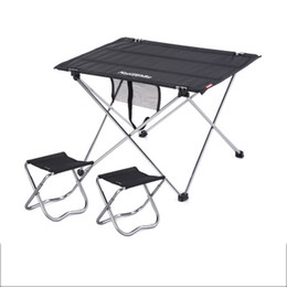 Wholesale Folding Chairs Tables - Wholesale- Combination packages NH15Z012-S6 FISHING chair table black small 2 camp chair Outdoor folding table Fishing leisure chairs