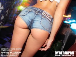 Wholesale Pole Dance Hot Pants - New girl's personality street dance tube hot pants DJ pole tease out ultralow waisted denim short club sexy Carry buttock Women's Shorts