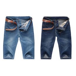 Wholesale Wholesale Men Short Jeans - Wholesale-jeans famous brand summer style cotton slim skinny casual denim jeans casual ripped jeans for men cotton shorts pants DM#6
