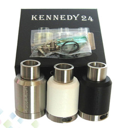 Wholesale Close Fit - Kennedy 24 RDA Vaporizer Rebuildable Dripping Atomzier Clone 24mm Outer Diameter Closed Deck Airflow Control fit 510 Mod DHL Free