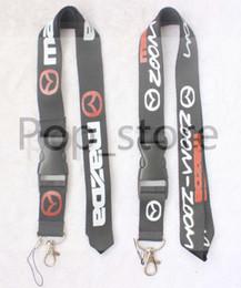 Serie di auto. Informazioni su MAZDA's Lanyard Portachiavi Tracolla portachiavi in pelle nera e bianca. da