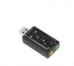 Wholesale Virtual 3d Card - JP209-B CM108 Mini USB 2.0 3D External 7.1 Channel Sound Virtual 12Mbps Audio Sound Card Adapter High Quality