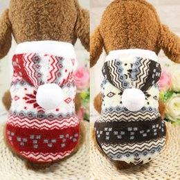 Wholesale Cheap Male Sweater - Cheap Fashion Winter Warm Pet Dog Puppy Coat Clothes Snowflake Print Christmas Hoodie Sweater For Small Medium Dogs