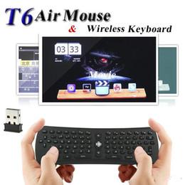 Clavier sans fil T6 Mini Air Mouse 2.4 Ghz Gyroscope Combo Combo télécommande pour M8 MXQ CS918 MXIII Android TV Box Lecteur multimédia PC ? partir de fabricateur