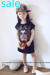 Wholesale chinese mail - Free Shipping Packages mailed the new fall 2017 han edition girls baby tiger head dress tide cartoon design child 3 ~ 8 years in the van