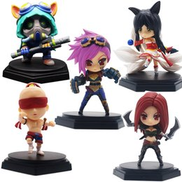 Wholesale Doll League Legends - 2017 New 10 styles Cute LOL Game Anime Model Collection doll heros League of Legends Action Figures Toys Garage Kit with box gifts