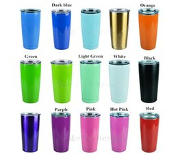 Wholesale Tumbler Cup Double - 10 Colors Colorful Tumbler Ram Beer Cup 20oz Mugs 304 Food Stainless Steel Double Wall Vacuum Insulated Travel Mug