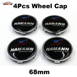 Wholesale 12 Color Wheel - 4Pcs Auto Wheel Center Logo Cap Badge 68mm for color H LOGO Label Car Wheel Hub Emblem Cover Good Quality PVC car badge emblem auto styling