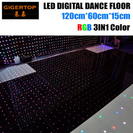 Wholesale Play Dance - Discount Price 120cm*60cm Led RGB Digital Dance Floor 4ftx4ft Size Assemble Support Non-Waterproof Video Pattern Text Play Gigertop light