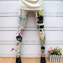 Wholesale Sunflower Pants - Wholesale- New Women American Flag Sunflower Stripes Star Print Thin Leggings Pants