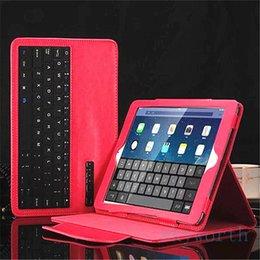 проектирование окон Скидка Роскошная кожа Съемная кожаная чехол для клавиатуры Keypad для ipad pro 9.7 air2 air mini 4 3 2 1 Crazy horse wireless