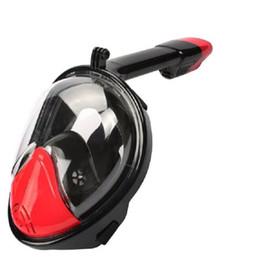 engrenagens de mergulho Desconto Atacado Anti Nevoeiro Rosto Cheio Snorkeling Máscara de Mergulho Snorkel 2 Em 1 Para Gopro 180 Graus Seco Fácil Livre de Respiração Da Tubo de Engrenagem de Mergulho Livre grátis