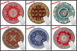 Wholesale Table For Pc - Custom Wholesale Sales Champion Persian Carpet Series of Art Prints a Circular Mousepad for Gifts for PC Table MATS