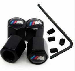 Wholesale Dust Caps For Cars - Anti-Theft Dust Cap car Tire valve caps With Car Logo Badges Emblems With Locking Tool For new batman    M With retail box