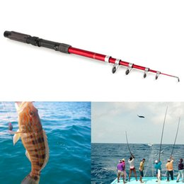 Wholesale Pole Rods - Portable Fishing Pole Tackle Carbon Fiber Spinning Lure Rod 2.1 2.4 2.7 3.0m free shipping