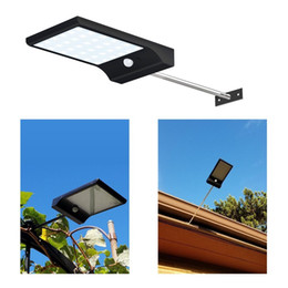 Wholesale Outdoor Light Pole Lamp - Super Bright 36 LED Solar Powered Motion Sensor Lighting Wall Lamps with Mounting Pole Outdoor Solar Garden Street Light Emergency Lamp