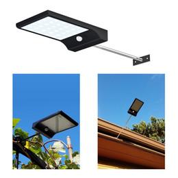 Wholesale Solar Garden Lighting Pole Light - Super Bright 36 LED Solar Powered Motion Sensor Lighting Wall Lamps with Mounting Pole Outdoor Solar Garden Street Light Emergency Lamp