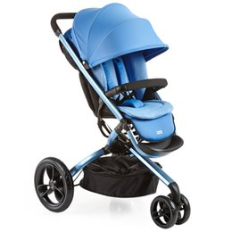 Wholesale Stroller Shock Absorbers - Fashion High Landscape Baby Stroller  Baby Pram, 3 Wheel Children Pushchair, Can Sit & Lie Down , Foldable, Shock Absorbers