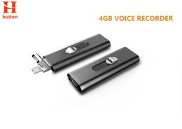 Wholesale File Slots - Wholesale- Newest 4GB micro voice recorder metal material with two USB slots long time record check all files by Android smart phone UR-26