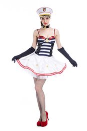 Wholesale Party Fantasia - New Sexy Women Navy Costume Girls Sailor Uniforms Halloween Carnival Fantasias Masquerade Cosplay Party Dress wholesale PS039