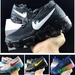 Wholesale Black Shoes Size Girls - Air Vapor 2018 Kids Running shoes Infant Sneaker Children sports shoes outdoor girls and boys High quality Tennis shoes Trainer size 27-35